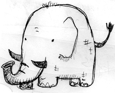 elephant doodle